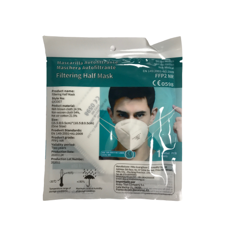 sachet individuel masque de protection ffp2