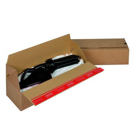 caisse americaine simple cannelure fond automatique adhesive ouverture longueur