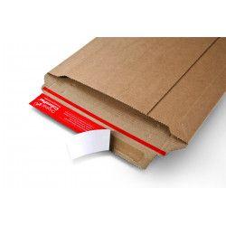 Pochette carton robuste à fermeture adhésive