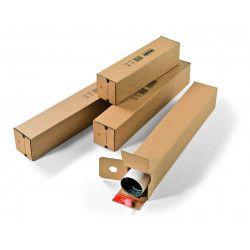 Tube carton carré à fermeture adhésive
