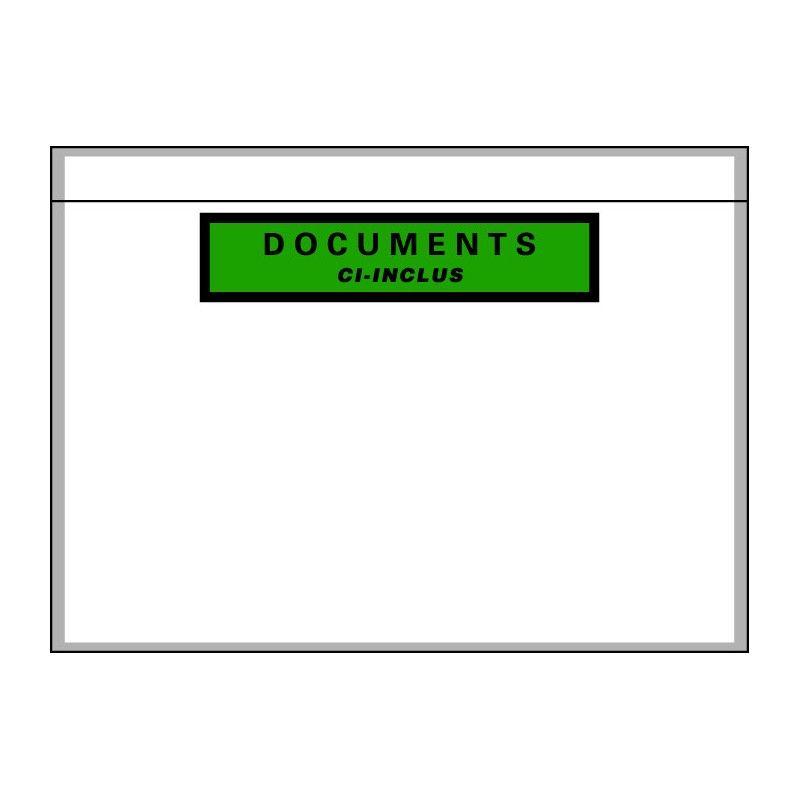 pochette porte document adhesive ecologique
