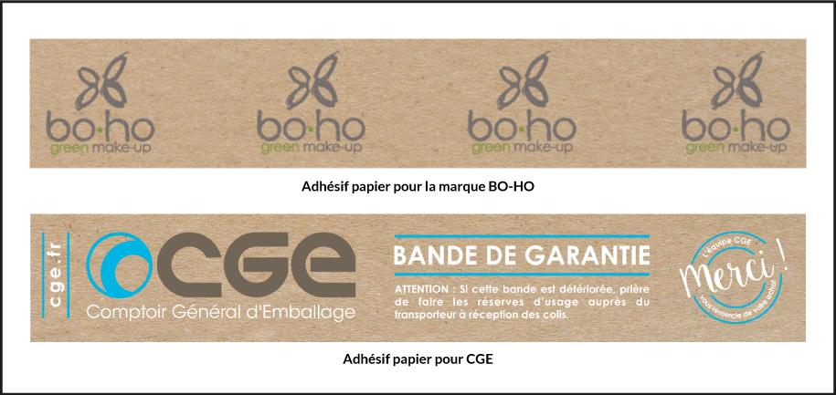 exemple adhesif papier personnalise